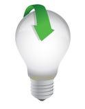 Lightbulb arrow Stock Photography