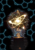 Lightbulb Atom Particle Royalty Free Stock Photos