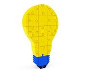Lightbulb av pusslet stock illustrationer