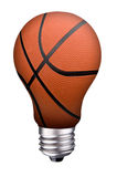 Lightbulb basketball Royalty Free Stock Image
