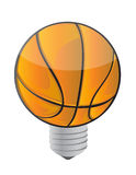 Lightbulb Basketball ball Stock Photo
