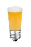 Lightbulb beer Stock Image