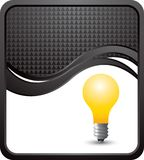 Lightbulb on black checkered wave background Royalty Free Stock Photography