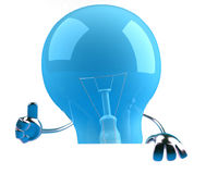 Lightbulb with a blank sign Royalty Free Stock Photo
