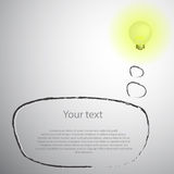 Lightbulb with blank space for your text Stock Photos