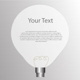 Lightbulb with blank space for your text. Vector : lightbulb with blank space for your text stock illustration