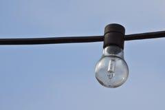 Lightbulb with blue sky Stock Photography