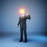 Lightbulb businessman Stock Image