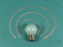 Lightbulb on chalkboard Royalty Free Stock Photography