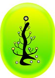 Lightbulb christmas tree royalty free stock photo