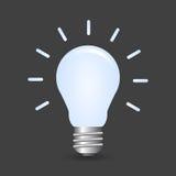 Lightbulb. Classic lightbulb with illumination effect stock illustration
