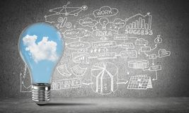 Concept of effective business innovations. Stock Photography