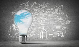 Concept of effective business innovations. Royalty Free Stock Images