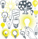 Lightbulb Collection Royalty Free Stock Photos