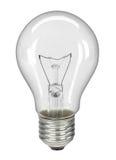 Lightbulb die op wit - met het knippen van weg wordt geïsoleerdo Royalty-vrije Stock Afbeeldingen