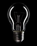 Lightbulb die op zwarte wordt geïsoleerd Royalty-vrije Stock Fotografie