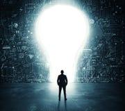 Lightbulb door royalty free stock images