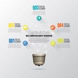 Lightbulb Dot Infographic Royalty-vrije Stock Foto