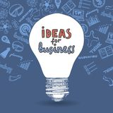 Lightbulb and drawing business strategy Royalty Free Stock Photo