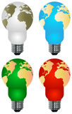 Lightbulb earth. Conceptual image of energy solution Stock Photography