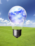 Lightbulb and Earth Royalty Free Stock Photos
