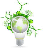 Lightbulb eco globe illustration design Stock Photography