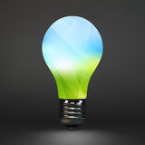 Lightbulb eco symbol. 3d vector illustration Royalty Free Stock Photography
