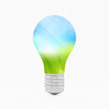 Lightbulb eco symbol. 3d vector illustration Royalty Free Stock Image