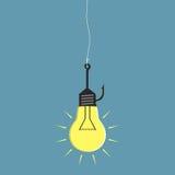 Lightbulb fishhook Στοκ εικόνες με δικαίωμα ελεύθερης χρήσης
