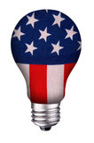 Lightbulb flag royalty free stock photography