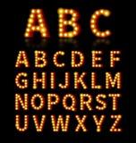 Lightbulb font Royalty Free Stock Images
