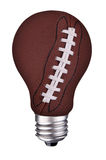 Lightbulb football Stock Photos