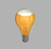 A lightbulb full of beer Royalty Free Stock Images
