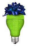 Lightbulb gift Royalty Free Stock Photography