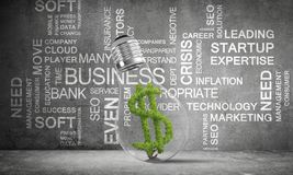 Concept of effective business innovations. stock photo