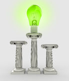 Lightbulb green renewable energy symbol Stock Image