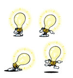 Lightbulb Guy Stock Photography