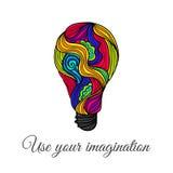 Lightbulb Hand-Drawn Doodles Στοκ Εικόνα