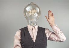 Lightbulb Head royalty free stock photography