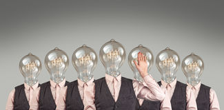 Lightbulb Heads Stock Photos