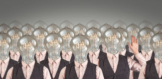 Lightbulb Heads Royalty Free Stock Photos