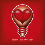 Lightbulb - heart. Royalty Free Stock Photography