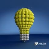 Lightbulb Het concept van het idee 3d vectorillustratie Stock Afbeelding