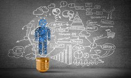Concept of business innovations for mankind. Royalty Free Stock Image