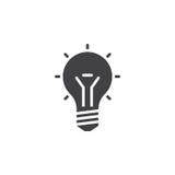 lightbulb icon , idea solid logo illustration, pictogram i Royalty Free Stock Photography