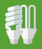 Lightbulb icon image. Energy saving lightbulb icon image  illustration design Royalty Free Stock Photos