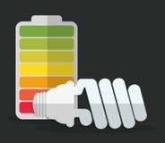Lightbulb icon image. Energy saving lightbulb icon image  illustration design Stock Photos
