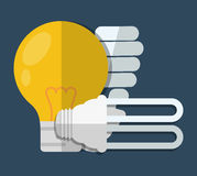 Lightbulb icon image. Regular and energy saving lightbulb icon image  illustration design Royalty Free Stock Image