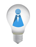 Lightbulb with icon inside Royalty Free Stock Image
