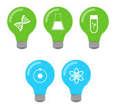Lightbulb icon set Royalty Free Stock Photo